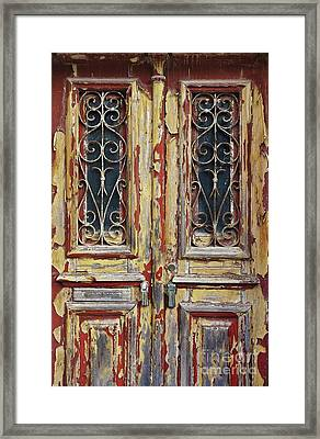 Old Wooden Doors Framed Print