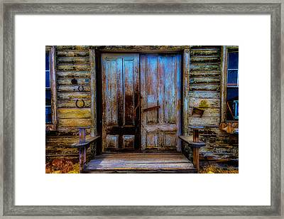 Old Wooden Doors Virgina City Framed Print