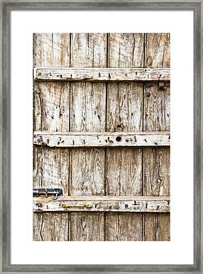 Old Wooden Gate Framed Print