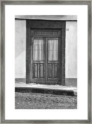 Old Wooden House Door Framed Print