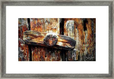Old Wooden Latch Framed Print