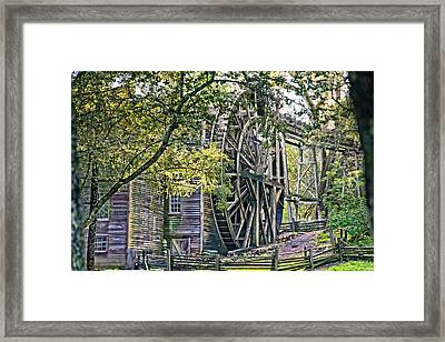 Framed Print featuring the photograph Old Wooden Mill by Kim Wilson