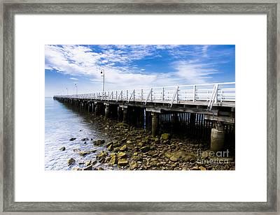 Old Wooden Pier Framed Print