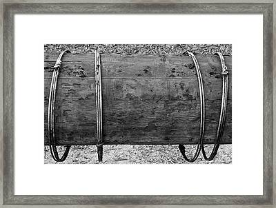 Old Wooden Pipe Framed Print