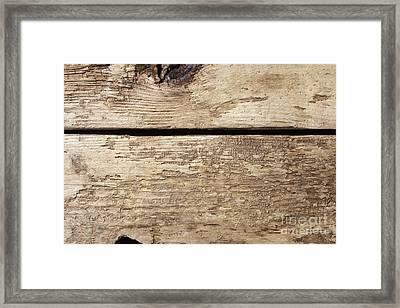 Old Wooden Planks Framed Print by Edward Fielding