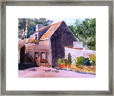 Old Wooden School House Framed Print by Larry Hamilton