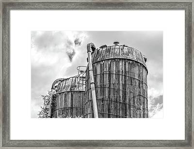 Old Wooden Silos Ely Vermont Framed Print by Edward Fielding