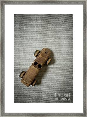 Framed Print featuring the photograph Old Wooden Toy Car Still Life by Edward Fielding