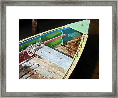 Old Work Boat Framed Print by Michael Thomas