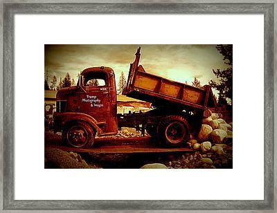 Old Work Horse Framed Print