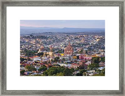 Old World City Skyline Framed Print