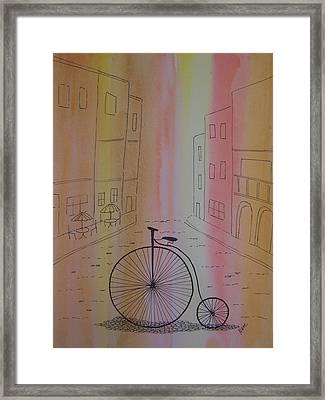 Old World Cycle Framed Print