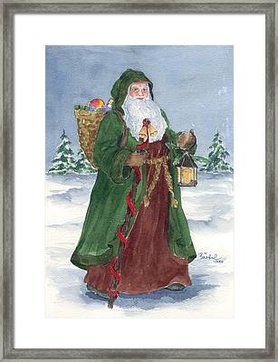 Old World Father Christmas Framed Print by Barbel Amos
