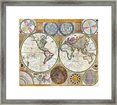 Old World Map Print From 1794 Framed Print by Marianna Mills
