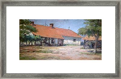 Framed Print featuring the mixed media Old  World Slovenian Farmhouse by Sherri  Of Palm Springs