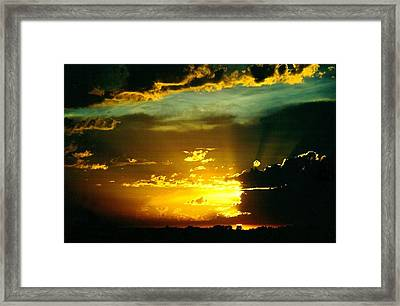 Old World Sunset Framed Print by Shirley Sirois