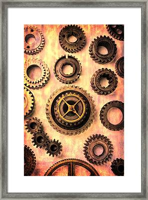 Old Worn Gears  Framed Print