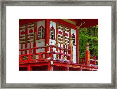 Old Worn Pagoda Framed Print by Garry Gay