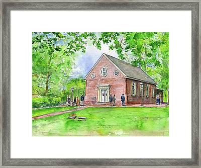 Old Wye Church Wye Mills Framed Print by John D Benson