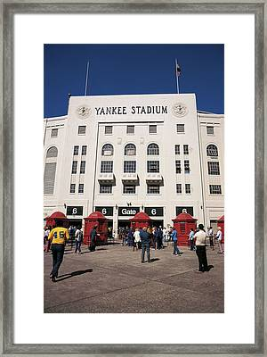 Old Yankee Stadium Last Game Framed Print
