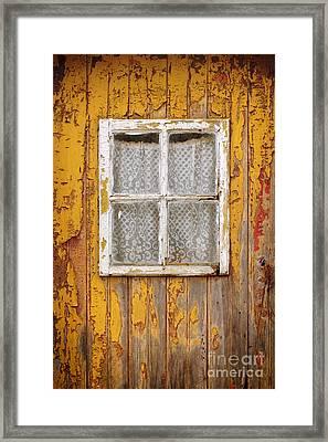Old Yellow Door Framed Print by Carlos Caetano