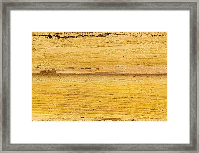 Framed Print featuring the photograph Old Yellow Paint On Wood by John Williams
