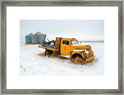 Old Yellow Framed Print