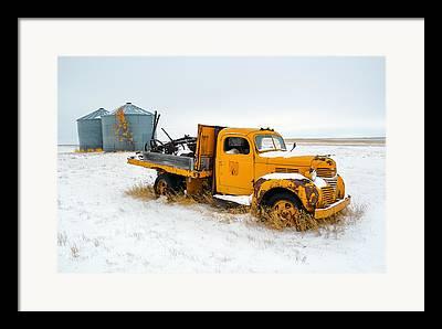 Travel Truck Framed Prints