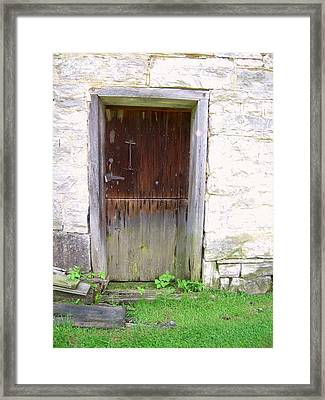 Old Yingling Flour Mill Door Framed Print by Don Struke