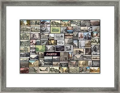 Old Zagreb Collage Framed Print by Janos Kovac