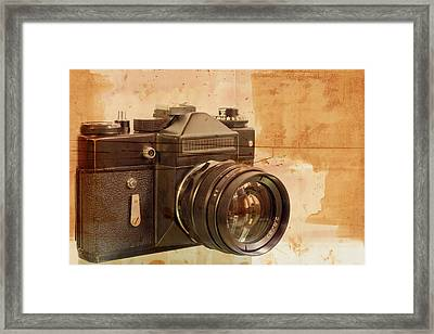 Old,dusty Photo Camera Framed Print by Boyan Dimitrov