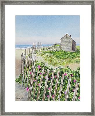 Olde Cape Cod Framed Print by Karol Wyckoff