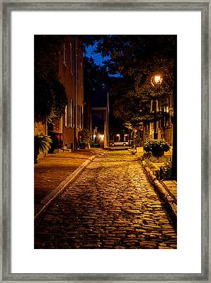 Olde Town Philly Alley Framed Print