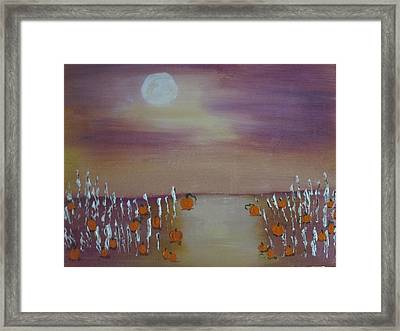 Olde Tyme Pumpkin Patch And Maze Framed Print by Sharyn Winters