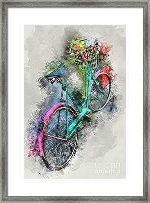 Olde Vintage Bicycle Framed Print