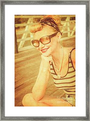 Olden Day Pin-up Gals Framed Print by Jorgo Photography - Wall Art Gallery