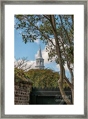 Oldest Church In Charleston Framed Print by Dale Powell