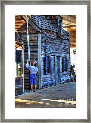 Oldest Wooden Schoolhouse Framed Print by C W Hooper
