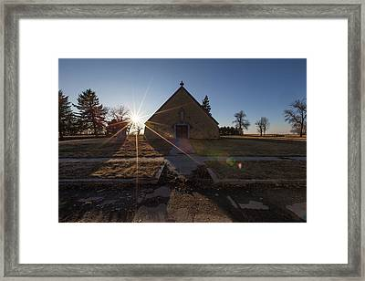 Framed Print featuring the photograph Oldham, Sd by Aaron J Groen