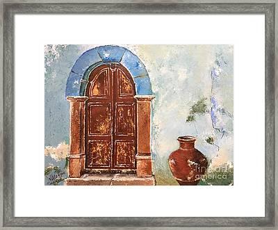 Oldness Of Chios Framed Print by Viktoriya Sirris
