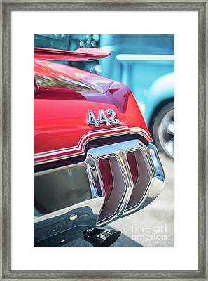 Olds 442 Classic Car Framed Print by Mike Reid