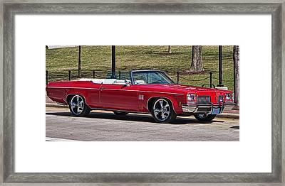 Oldsmobile Delta Royale 88 Red Convertible Framed Print