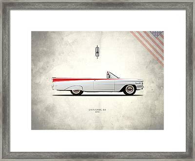Oldsmobile Dynamic 88 1959 Framed Print by Mark Rogan