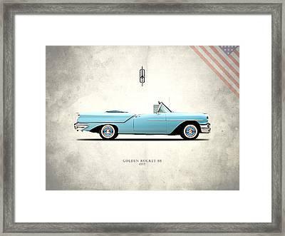 Oldsmobile Golden Rocket 88 1957 Framed Print by Mark Rogan