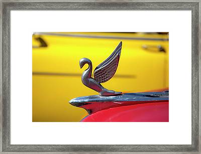 Framed Print featuring the photograph Oldsmobile Packard Hood Ornament Havana Cuba by Charles Harden