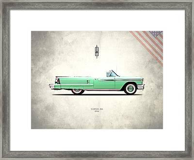 Oldsmobile Super 88 1958 Framed Print by Mark Rogan