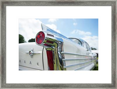 Oldsmobile Tail Framed Print by Helen Northcott