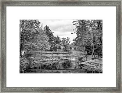 Ole Bull State Park - Pennsylvania - Bw Framed Print by Steve Harrington