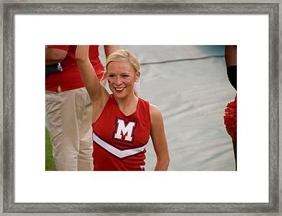 Ole Miss Cheerleader Smiling Framed Print