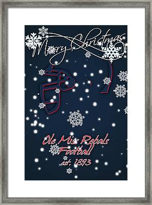 Ole Miss Rebels Christmas Card 2 Framed Print by Joe Hamilton
